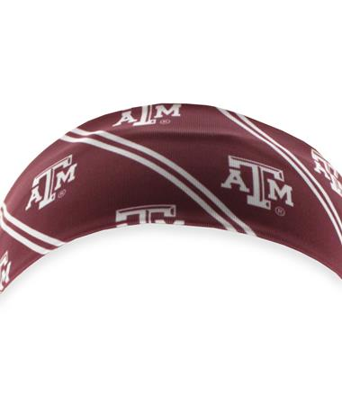 Texas A&M League Sublimated Headband Maroon/White
