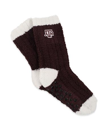 Texas A&M Warm Fuzzy Knit Socks MAROON