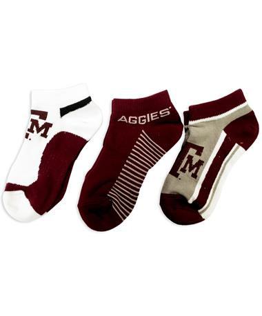 Texas A&M Low 3 Pack Socks