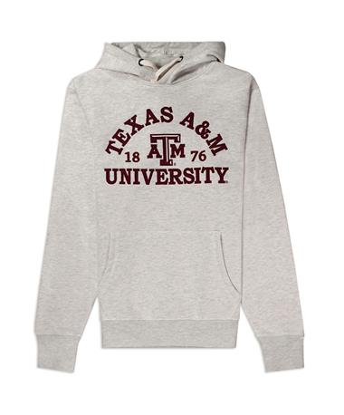 Texas A&M League 1876 Stadium Hoodie - Front Oatmeal