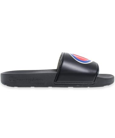 Champion Black Slides - Side Black