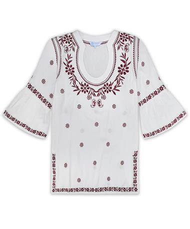 Maroon Embroidered Escapada Montreux Tunic