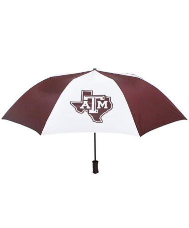 Texas A&M Large Two Color Umbrella - Front Maroon White
