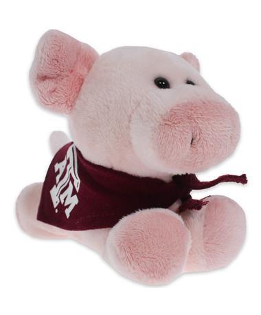 Texas A&M Short Stack Plush Pig - Angled Pig