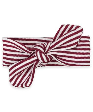 Maroon & White Tie Infant Headband