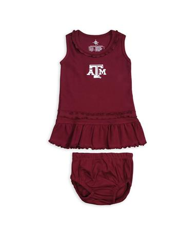 Texas A&M Ruffle Dress & Bloomers Set MAROON
