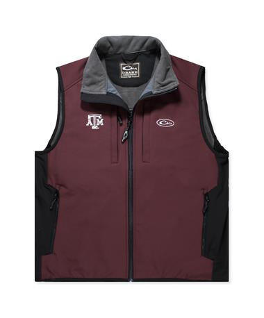 Texas A&M Drake Collegiate Tech Vest - Front Maroon