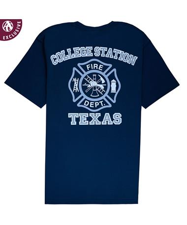 College Station Texas Fire Department Shield T-Shirt - Back Polo