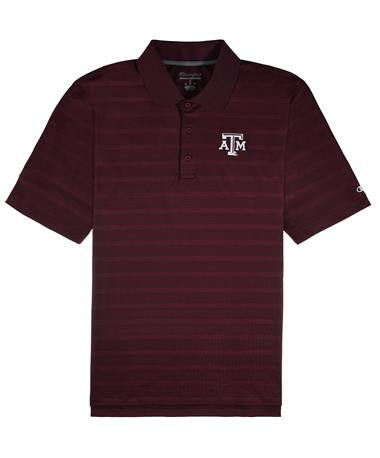 Texas A&M Champion Textured Polo - Maroon - Front Maroon