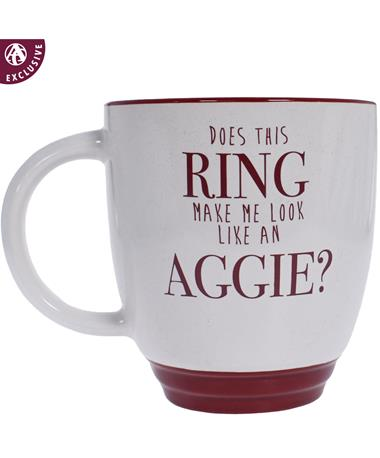 Texas A&M Aggie Ring Mug - Front MAROON/WHITE