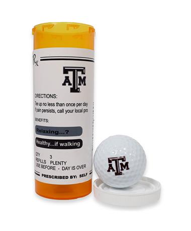Texas A&M Prescription Tube Golf Balls MULTI