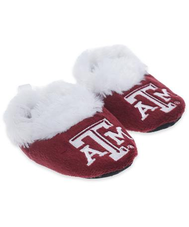 Texas A&M Slipper Baby Booties - Angled MULTI