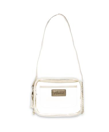 Texas A&M Klear Pearl White Bag - Front PEARLIZED WHITE