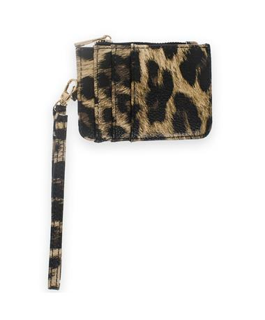 Texas A&M Leopard Koin Wristlet Wallet - Front LEOPARD