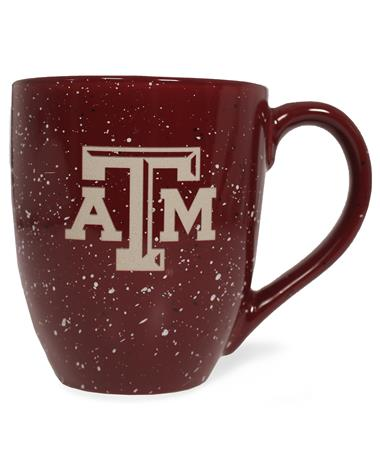 Texas A&M Speckled Bistro Mug BURGUNDY