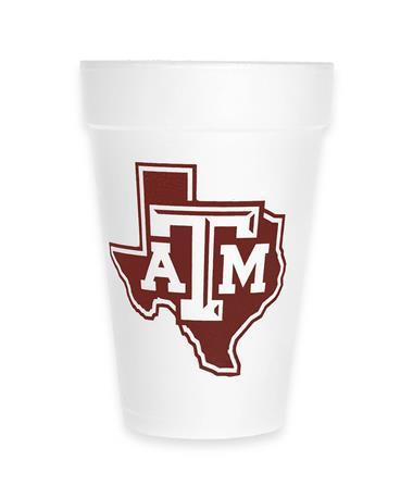 Texas A&M Gig' Em Aggies Foam Cup