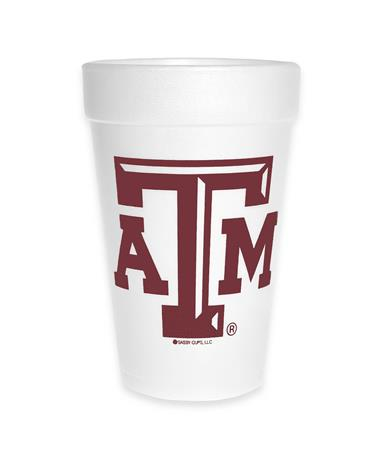 Texas A&M Whoop Foam Cups