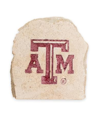Texas A&M 5.5 X 5.5 Engraved Decorative Stone - Front STONE