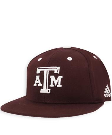 Texas A&M Adidas Flex Fit Fitted On Field Baseball Cap