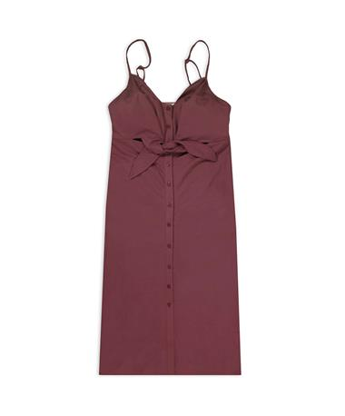 Maroon The Cara Midi Dress - Front MAUVE
