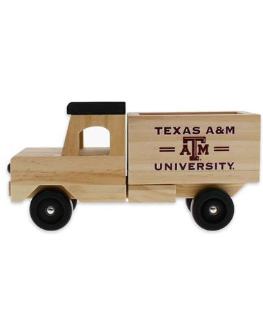 Texas A&M Wooden Toy Truck - Left MAROON