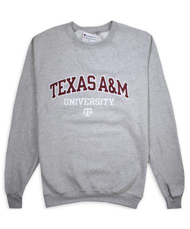 Texas A&M Champion PowerBlend Crew Neck Grey