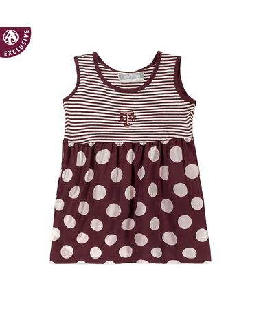 Texas A&M Toddler ATM Polka Dot Dress