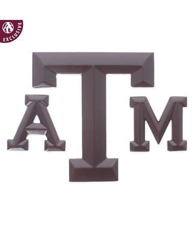 Texas A&M Matte Maroon Block Emblem