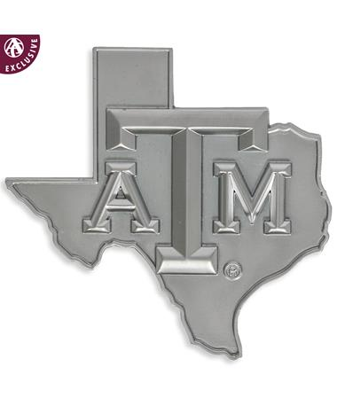 Texas A&M Matte Silver Lone Star Emblem