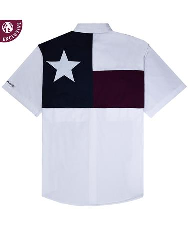Texas A&M Aggie Youth Flag Fishing Shirt WHITE