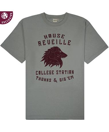 Texas A&M House Reveille T-Shirt - Front GREY