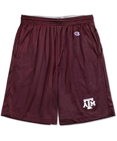 Texas A&M Champion Mesh Shorts - Front MAROON