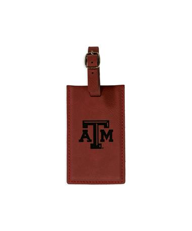 Texas A&M Velour Leather Luggage Tag