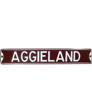 Texas A&M Aggieland Aluminum Sign - Front MULTI