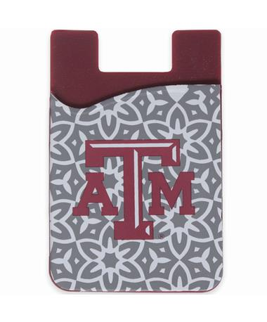 Texas A&M Slim Silicone Phone Wallet - Front MULTI