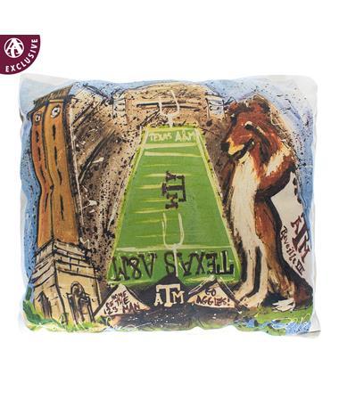 Texas A&M Heidi Hensley Art Pillow