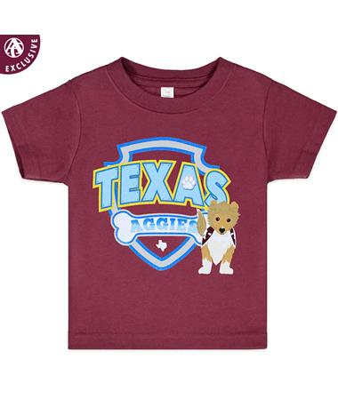 Texas A&M Aggies Reveille Shield Toddler T-Shirt