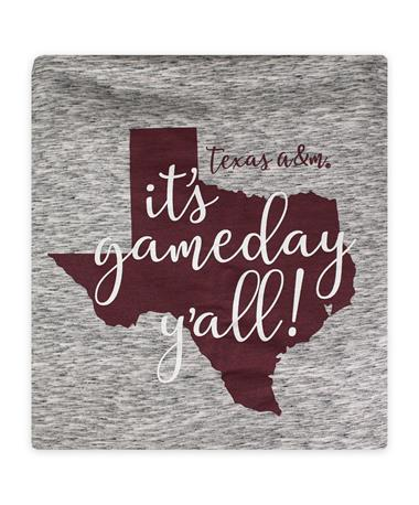 Texas A&M Pro-Weave Sweatshirt Fleece Blanket - Salt & Pepper - Front SALT PEPPER
