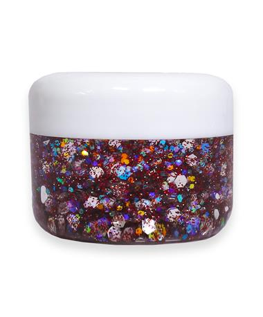 Maroon Holographic Cosmetic Glitter Gel MAROON/SILVER