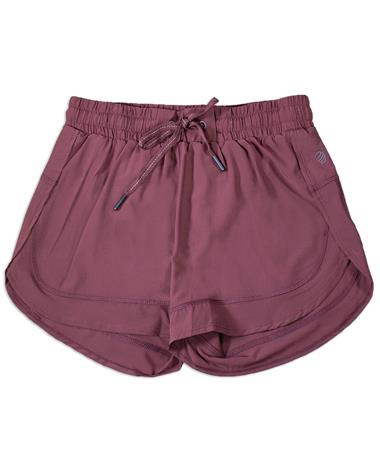 Maroon Women`s Tied Athletic Shorts - Front MAROON