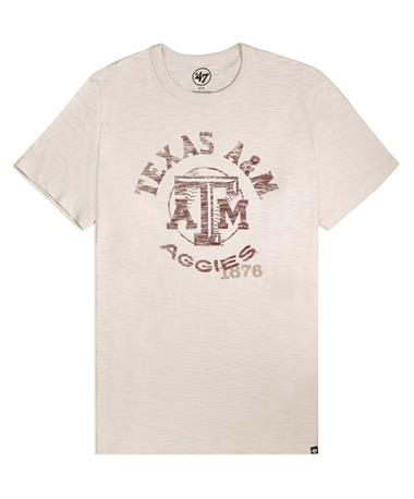 Texas A&M `47 Brand Impress Baseball T-Shirt - Front Dune