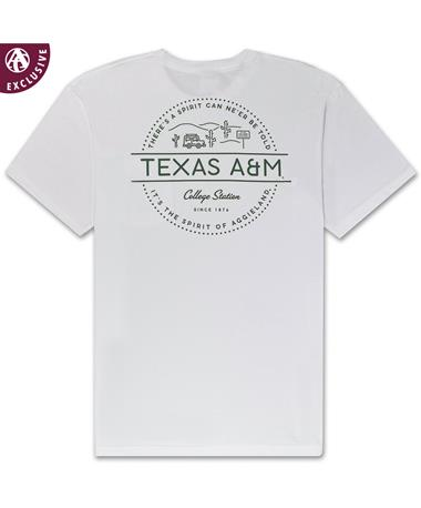 Texas A&M Spirit Desert Drive T-Shirt - Back White