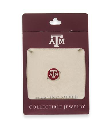 Texas A&M Round Enamel Bead - In Packaging MAROON