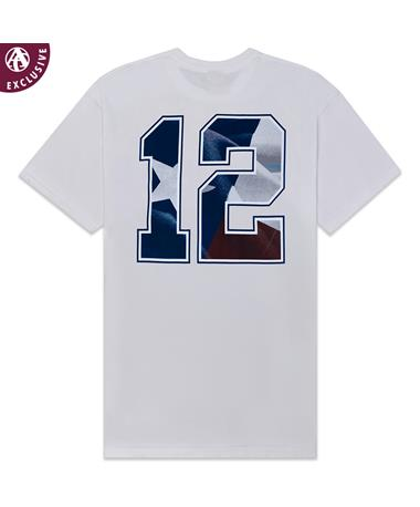 Texas A&M Texas Flag Twelve T-Shirt - Back White