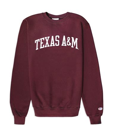 Texas A&M Champion Powerblend Fleece Crew Maroon