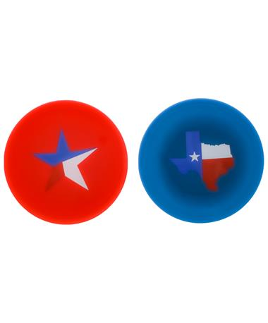 Texas Drink Tops 2 Pack Silicone Covers