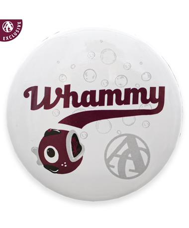Whammy Bubbles Baseball Button - Front MULTI