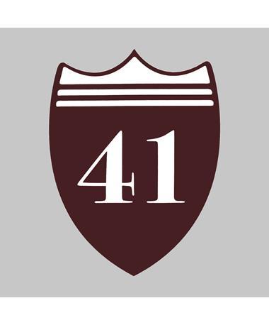 Maroon 41 Shield Decal