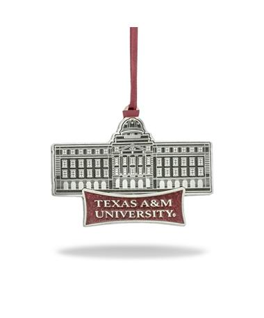 Texas A&M Academic Building Pewter Ornament