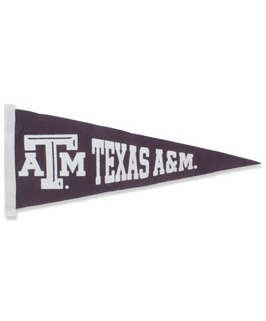 Texas A&M Small Pennant Flag Maroon/White